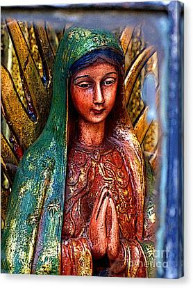 Mary In Repose Canvas Print by Mexicolors Art Photography