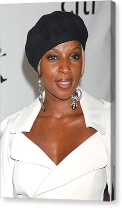 Mary J. Blige At Arrivals For The 4th Canvas Print by Everett