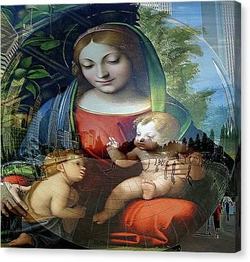 Mary Jesus And John  Canvas Print