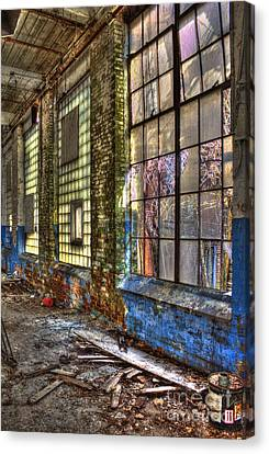 Window Walls Mary Leila Cotton Mill Canvas Print by Reid Callaway