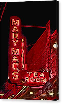Mary Macs Resturant Atlanta Canvas Print by Corky Willis Atlanta Photography