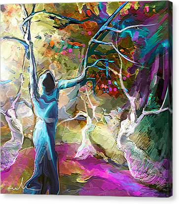 Mary Magdalene And Her Disciples Canvas Print by Miki De Goodaboom