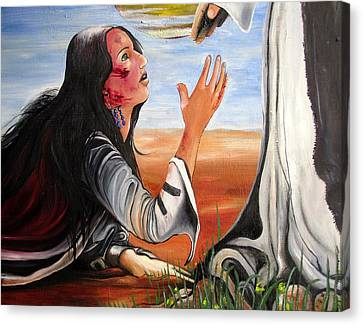 Mary Magdalene Canvas Print by Mary Ellen Frazee