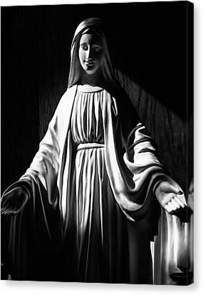 Canvas Print featuring the photograph Mary by Monte Stevens