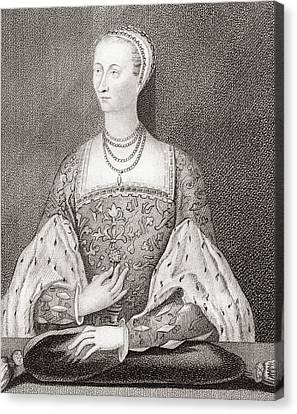 Mary Of Guise, 1515 Canvas Print by Vintage Design Pics