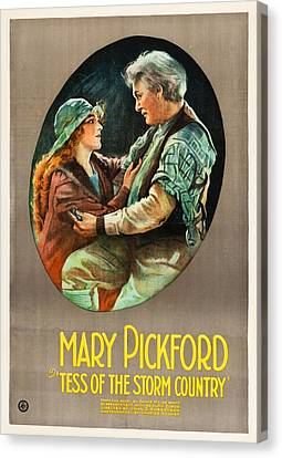 Mary Pickford In Tess Of The Storm Country 1922 Canvas Print by Mountain Dreams