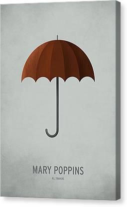 Vintage Canvas Print - Mary Poppins by Christian Jackson