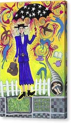 Mary Poppins Canvas Print by Shoshanah Dubiner