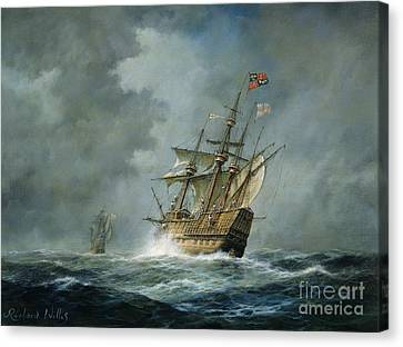 Sea Canvas Print - Mary Rose  by Richard Willis
