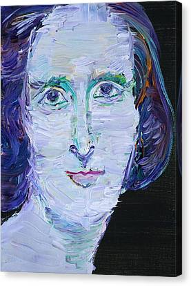 Canvas Print featuring the painting Mary Shelley - Oil Portrait by Fabrizio Cassetta