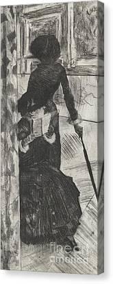 Admiring The View Canvas Print - Mary Stevenson Cassatt by Edgar Degas