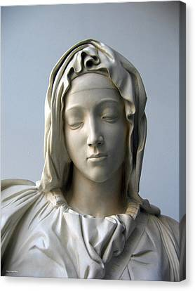 Canvas Print featuring the sculpture Mary by Suhas Tavkar
