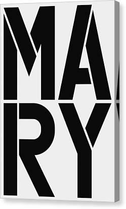 Mary Canvas Print by Three Dots