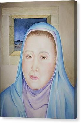 Canvas Print featuring the painting Mary Waits At Easter Dawn by Michele Myers