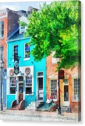 Maryland - Neighborhood Pub Fells Point Md Canvas Print by Susan Savad
