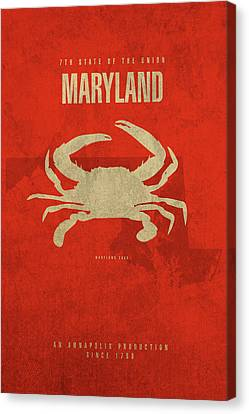 Maryland State Facts Minimalist Movie Poster Art Canvas Print by Design Turnpike