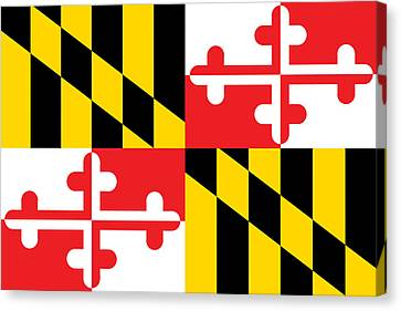 Maryland State Flag Canvas Print by American School
