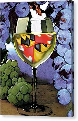 Maryland Wine Canvas Print by John D Benson