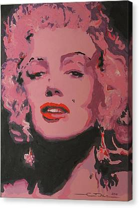 Marylin Monroe Canvas Print by Eric Dee