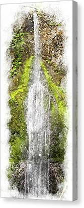 Marymere Falls Wc Canvas Print by Peter J Sucy