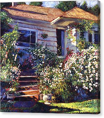 Mary's Cottage Canvas Print by David Lloyd Glover