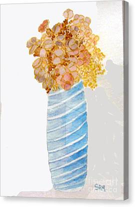 Canvas Print featuring the painting Mary's Flowers by Sandy McIntire