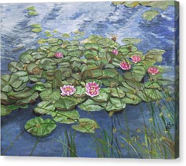 Canvas Print - Maryse's Water Lilies by Kim Selig