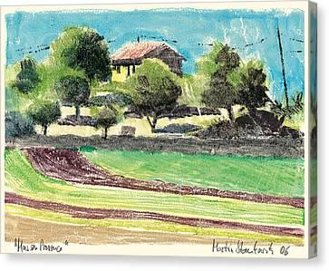 mas en Provence landscape Canvas Print