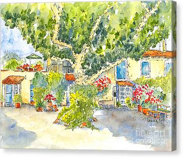 Mas St Antoine Courtyard 1 Canvas Print