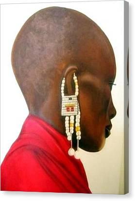 Masai Woman - Original Artwork Canvas Print