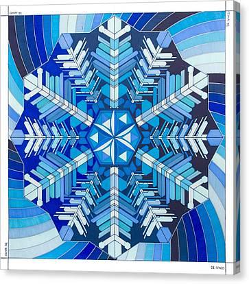 Masaru Emoto Snowflake Canvas Print