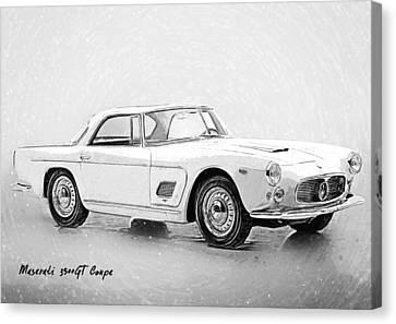 Maserati 3500 Gt Canvas Print by Taylan Apukovska