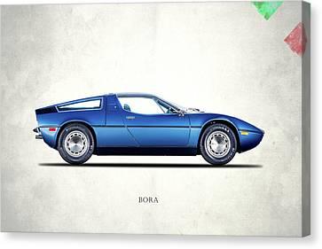 Racing Car Canvas Print - Maserati Bora 1973 by Mark Rogan