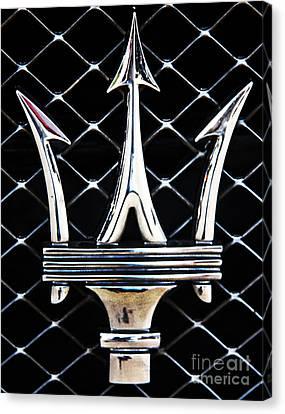 Maserati Emblem Canvas Print