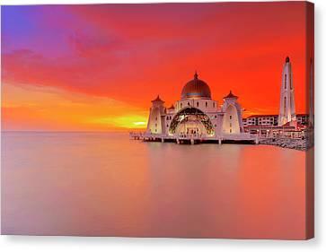 Masjid Selat Melaka Part 2 Canvas Print