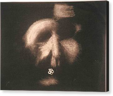 Canvas Print featuring the photograph Mask by AJ Brown