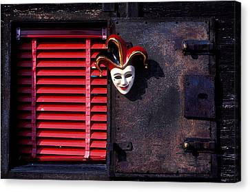 Mask By Window Canvas Print by Garry Gay