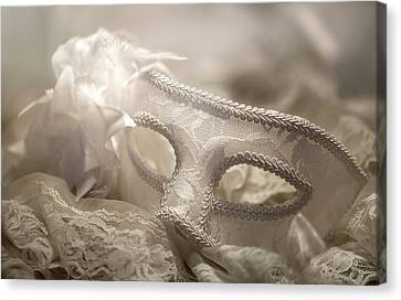 Mask Canvas Print by Cindy Grundsten