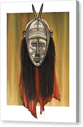 Mask I Untitled Canvas Print by Anthony Burks Sr