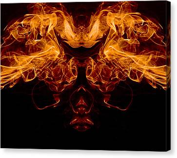 Mask Of Fire Canvas Print by Val Black Russian Tourchin