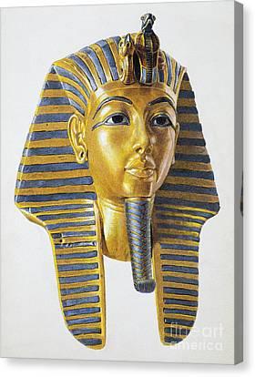 Mask Of The Egyptian Pharaoh Tutankhamen Canvas Print