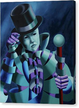 Mask Of The Magician - Abstract Oil Painting Canvas Print by Mark Webster