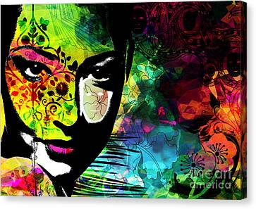 Masking Ego Canvas Print by Ramneek Narang