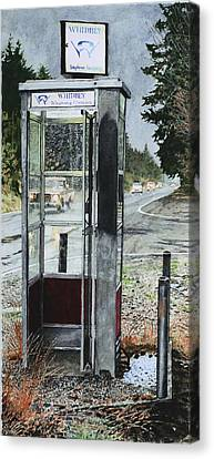Mason-dixon Phone Booth Canvas Print by Perry Woodfin