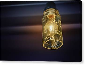 Graphic Digital Art Canvas Print - Mason Jar Light by Scott Norris
