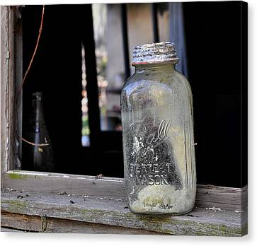 Mason Jar Canvas Print by Todd Hostetter