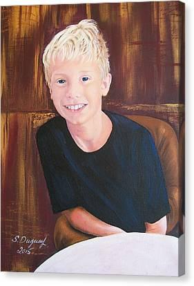 Youth Hockey Canvas Print - Mason  by Sharon Duguay