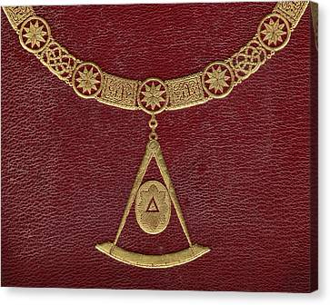 Gold Chain Canvas Print - Masonic Symbols From Cover Of The by Vintage Design Pics