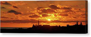 Canvas Print - Maspalomas Sunset Panorama by Marc Huebner