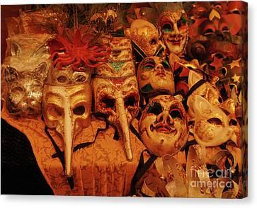 Masque Maker Canvas Print by Georgia Sheron